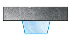 Point de contact butée adhésive plate