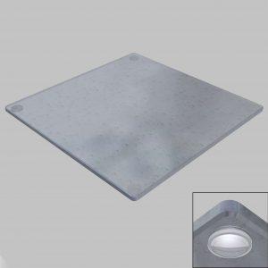 Butées adhésives plateau verre